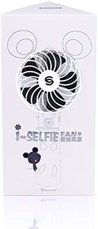 Black GzPuluz Mini USB Fan Portable Lovely Style Mini USB Charging Handheld Small Fan with Selfie Stick Color : Black