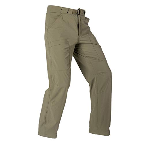 FREE SOLDIER Outdoor Men's Lightweight Waterproof Quick Dry Tactical Pants Nylon Spandex(Mud 32W/30L)
