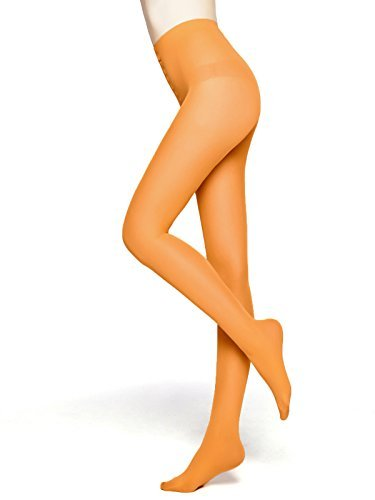 MOOCHI Women 80 Denier Semi Opaque Tights (Orange)