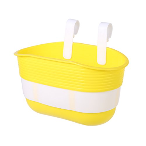 Price comparison product image Aixia Bicycle Basket Children Bike Plastic Hanging Front Handlebar Carrier Saddlebag (Yellow)