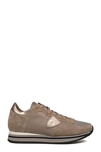 Thldwz11 Donna Pelle Grigio Sneakers Model Philippe Ztxngq7