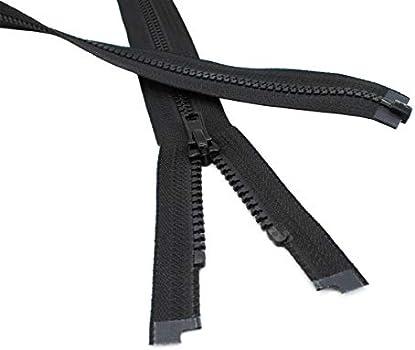 YKK Ski /& Sport #5 Molded Plastic Jacket Separating Black Made in USA