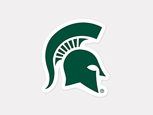 Ncaa Michigan State University 52849012 Perfect Cut Color Decal  4  X 4   Green