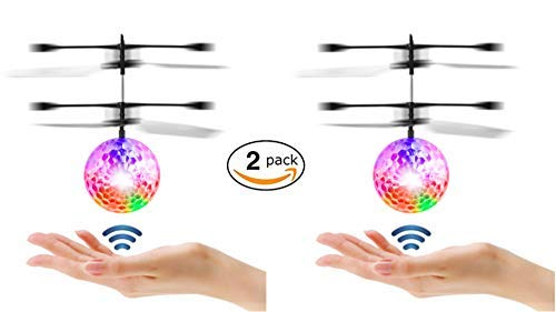 (Mysterious Flying Ball Kids Toys Mini Infrared Induction Flying Helicopter Drone w/ Flashing LED Rechargeable Games Toys Balls for Indoor Outdoor Birthday Favor Boys Girls Adults 6 7 8 9)