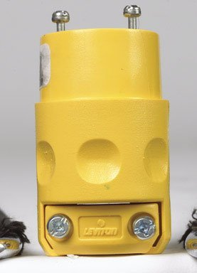 Leviton 660-515CV-0CV 15 Amp Vinyl Connector Grounded 125 Volt, Yellow 3 Wire Grounding Connector