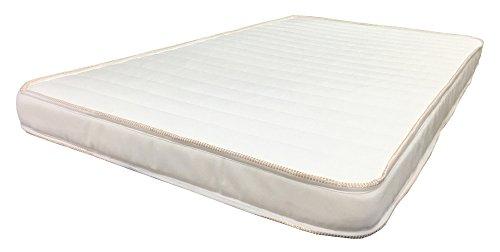 Colchon para Cuna 80 x 140 x 7 cm Hule Espuma Franjas Blancas