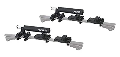 INNO - INA450/INA455, Easy Mount Dual (2) Kayak Carrier with Universal Mount (Fits Rounds, Square, Aero and Most Factory Bars) for Car, Truck, or SUV