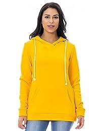 Smallshow Women's Fleece Maternity Nursing Sweatshirt Hoodie with Kangaroo Pocket