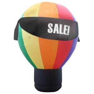 Gemmy Industries G0830480 Hot Air Balloon with 4 Interchangeable Banners
