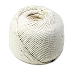Wholesale CASE of 25 - Quality Park All-Purpose Tying Twine-All-Purpose Twine, Cotton, 10-Ply, 475' Ball, White Cotton 10 Ply 475' Ball