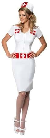 Smiffys Sexy Nurse Uniform Dress Adult Halloween Costume Medium