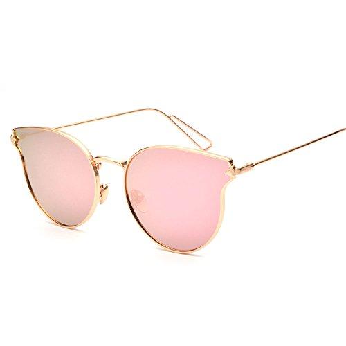 New Fashion Women's Sunglasses Women Sun Glasses Metal Cat Eyes Pink - Fall Sunglasses 2017