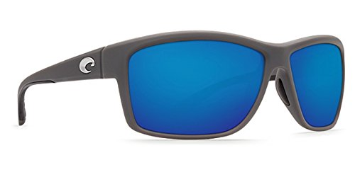 Costa Del Mar Mag Bay Sunglasses, Matte Gray, Blue Mirror 580G - Glass Costa 580