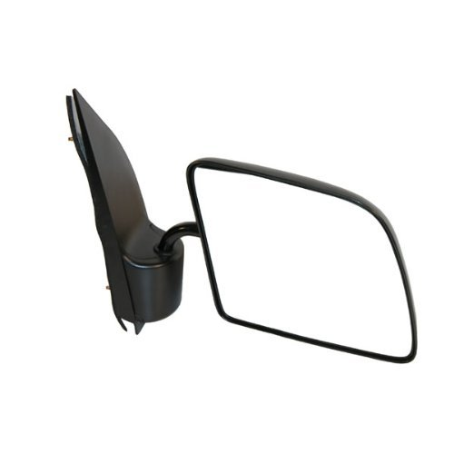 1992-2006 Ford Econoline Van E150, E250, E350 Manual Black Textured (Goose Neck Style) Folding Rear View Mirror Right Passenger Side (1992 92 1993 93 1994 94 1995 95 1996 96 - Econoline Ford Van 96