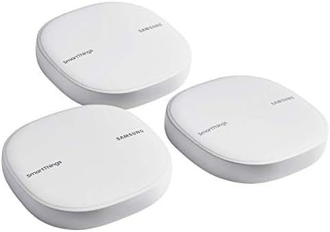 Samsung SmartThings Wifi Mesh Router Range Extender SmartThings Hub Functionality Whole-Home WiFi Coverage - Zigbee, Z-Wave, Cloud to Cloud Protocols - White (3 Pack) - ET-WV525KWEGUS