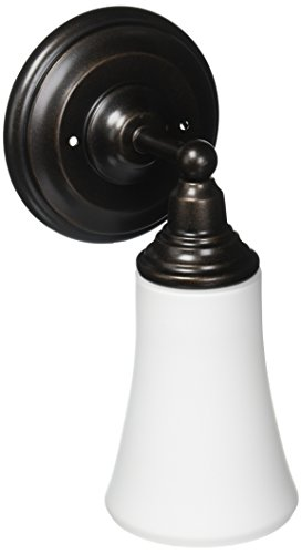 Moen YB8261ORB Rothbury Single Globe Bath Light, Oil Rubbed Bronze by Moen