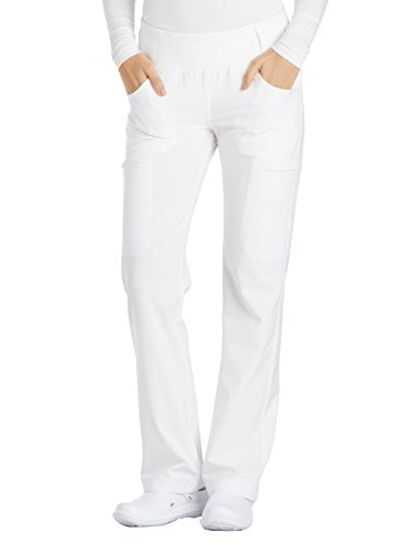 Cherokee iFlex CK002 Mid Rise Pull-On Pant White S Petite