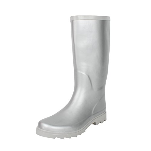 Waterproof Silver Women's Rainboots West Blvd Mid Rubber Calf vxg11InW
