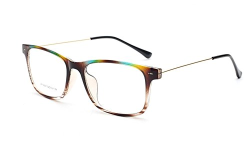 c6195bf72cd Flowertree Unisex S9352 Lightweight Super Thin Arm Wayfarer 52mm Glasses  (Colorful brown) - Buy Online in Oman.