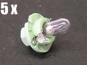 Audi (84-87) BULB Clear instruments heater control x5