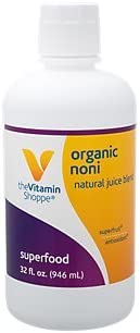 Organic Noni Natural Juice Blend, Exotic Super Fruit Tropical Noni Fruit or Morinda Citrifolia Supports Immune Health 32 Fl Oz. by The Vitamin Shoppe