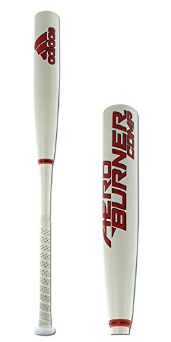 adidas Performance AeroBurner Composite Baseball Bat, White/Red/Black, 34 inch/31 (Light Adult Wood Baseball Bat)