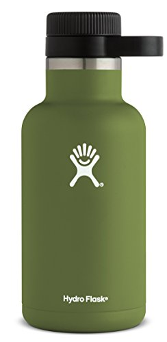Hydro Flask 64 oz Double Wall Vacuum Insulated Stainless Steel Beer Growler, Olive