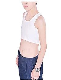 TRURENDI Les Lesbian Tomboy Short Vest Chest Binder Tops
