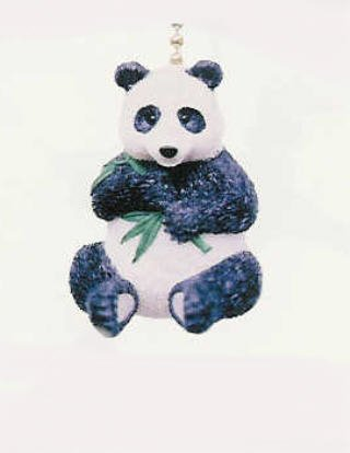 Black Amp White Panda Bear Lover Ceiling Fan Light Pull