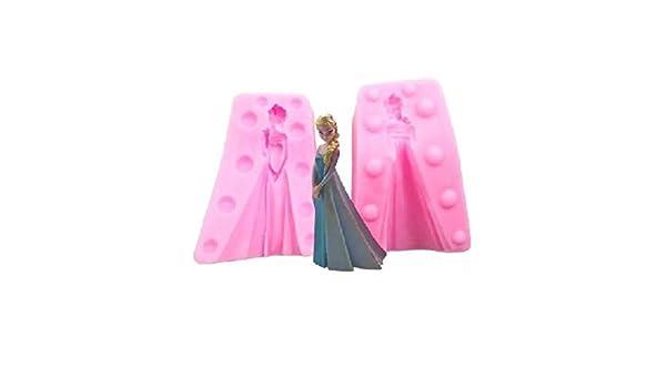 Nayohoh - Molde de silicona para repostería (diseño de Elsa de Frozen, color rosa): Amazon.es: Hogar