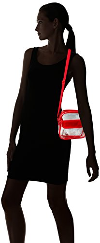 Messenger Stadium Adjustable Purse Shoulder Bag Red Approved Bag Strap Event Clear Clear Transparent with tTqUTw