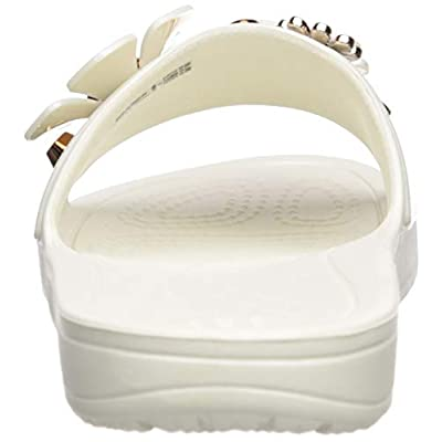 Crocs Women's Sloane Metal Blooms Slide Sandal | Slides