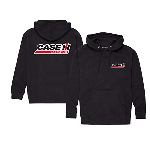 Case IH Front and Back - Adult Pullover Hood Black ()