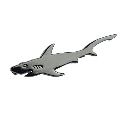 NewSilkRoad Shark Shape Tie Clip Tie Bar,Men's Necktie Tie Clip Bar with 1pcs Waterproof Gift Bag (1pcs) ()