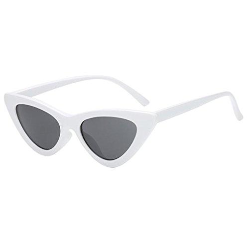 Foncé Femmes Lunettes Magideal Yeux Chat En De Gris Sunglasses Soleil Lentille Eye Blanc Air Fram Cat Mode Plein Classique r8U8Iqw