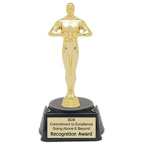 amazon com achievement oscar figure trophy 8 25 with 4 lines of