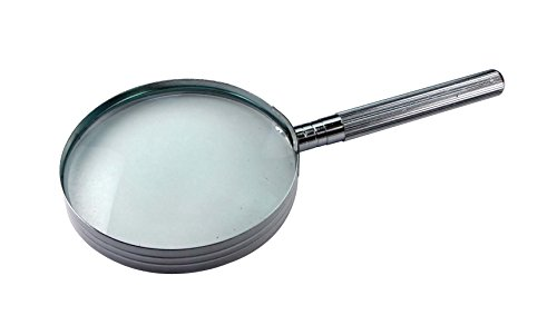 SE MM2035 4x Chrome-Plated Handheld Magnifier ()