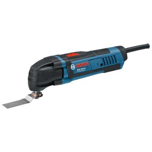 Bosch GOP 250 CE Professional Multi-Cutter im Karton mit Zubehör (Sägeblätter, Schleifplatte und -blatt, Schlüssel)