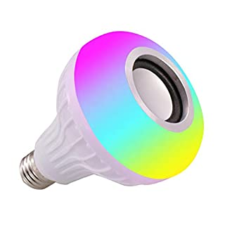 E27 RGB Bulb Light 7 Color Changing Bluetooth IR Remote Music Audio Speaker LED Lamp Home Decor A