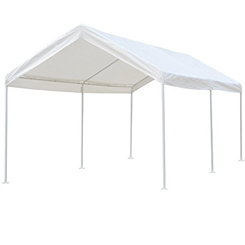 Snail 10 X 20 ft Heavy Duty All-Purpose Waterproof Outdoor Domain Carports Portable Auto Car Canopy Garden Instant (Metal Tent)