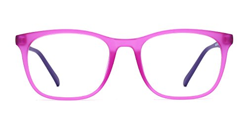 26680521b1 TIJN Unisex Wayfarer Non-prescription Glasses Frame Clear Lens Eyeglasses  (Purple