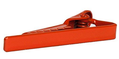 "Jacob Alexander Skinny Tie Clip 1.5"" Width - Orange"