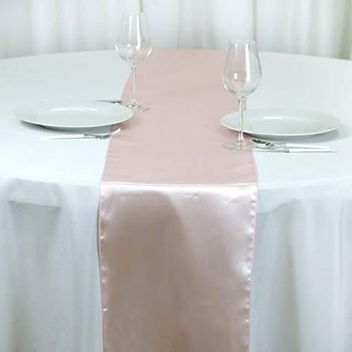 (Mikash 12 x 108 Satin Table Runner Wedding Party Dinner Table Supply Decorations Sale   Model WDDNGDCRTN - 1837   50 pcs)