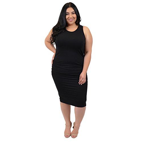 Stretch Tank Dress (Stretch is Comfort Women's PLUS SIZE Tank Dress Black X-Large)