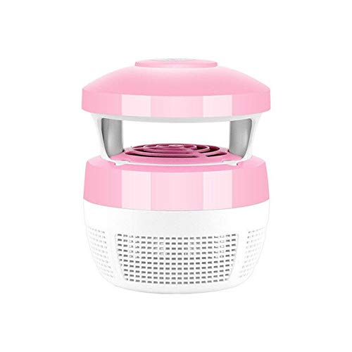 6 Lamp LED Electronic Mosquito Killer Indoor Mosquito Trap Inhaled Fly USB Charger Anti Mosquito Repellent Light Insect Killer   Pink