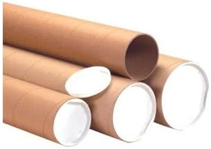 PRICE is per CASE Heavy-Duty Mailing Tubes with Caps 4 x 24 Kraft