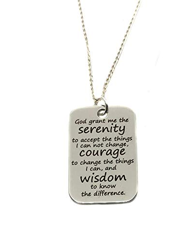 (Heart Projects Stainless Steel Serenity Prayer Charm, 18