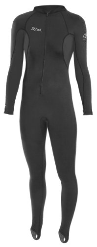 Xcel Women's 6-Ounce Stretch UV Jumpsuit (Black, 8)