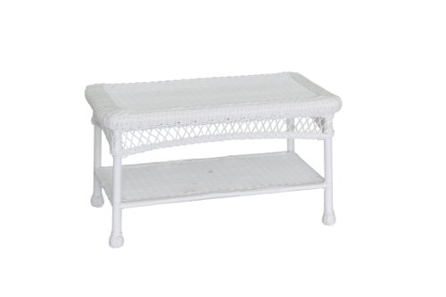 White wicker patio furniture coffee table White wicker coffee table