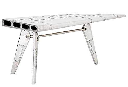 casa padrino luxus designer schreibtisch aircraft wing aluminium flugzeug flgel art deco vintage - Schreibtisch Aus Flugzeugflgel